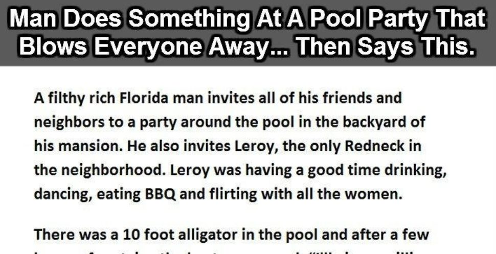 What this man does in a pool party will leave you speechless. This is Gold
