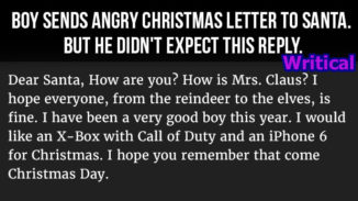 angry Christmas letter