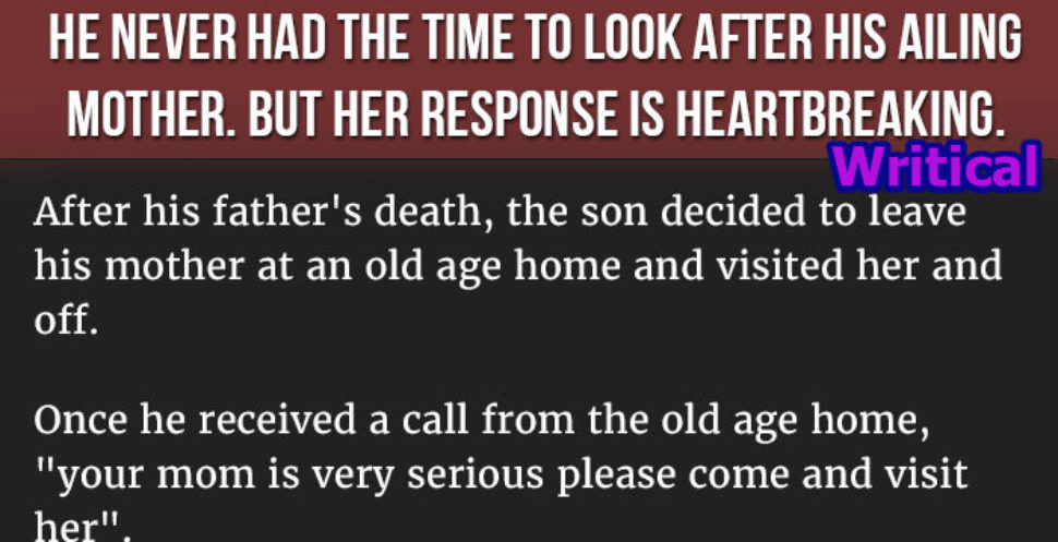 ailing mother
