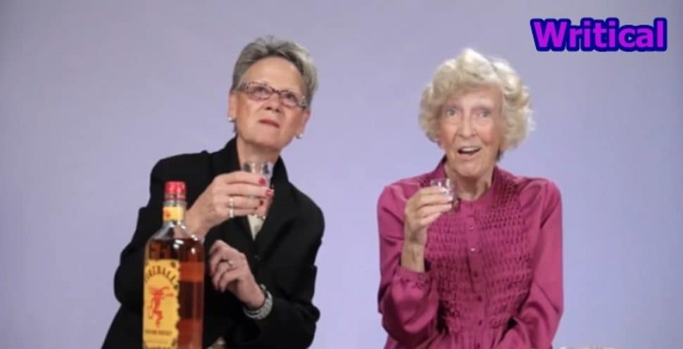 Grandmothers try whisky