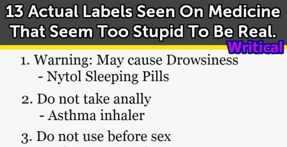 Funny medicine labels