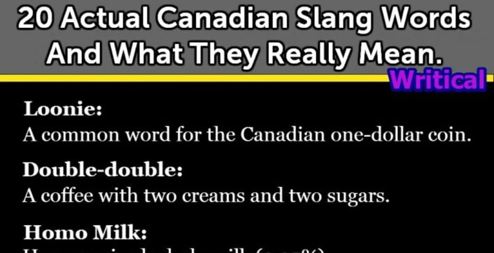 Canadian Slangs