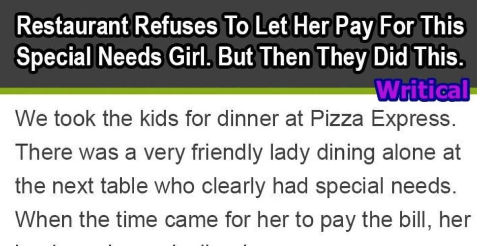 Restaurant refused payment from this family