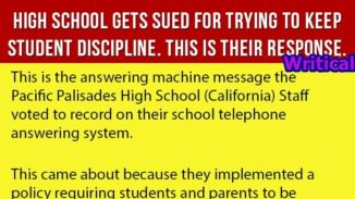 Parents Sued the High School