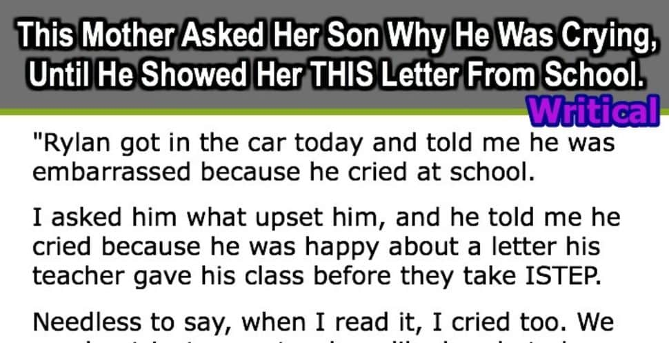 son's crying