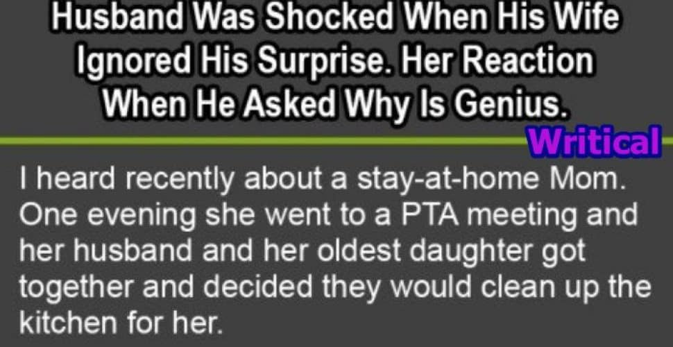 Husband shocked by his wife