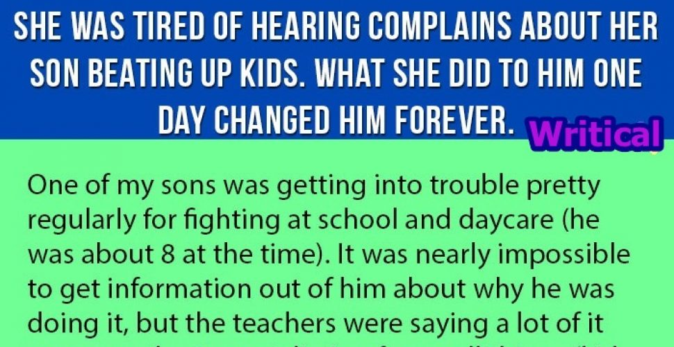 Her son bullied kids at school, but then the mother did this