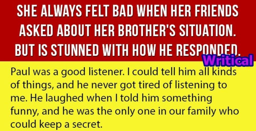 Amazing blind brother