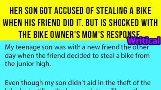 Her son was accused of stealing bike