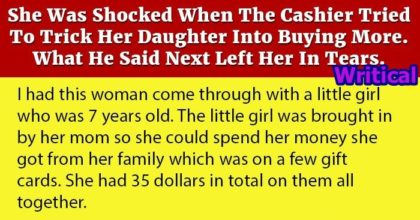 Shocked Mom and the Kind Cashier