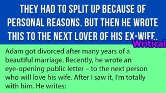Letter for ex-wife