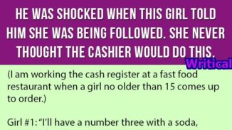 Shocked cashier