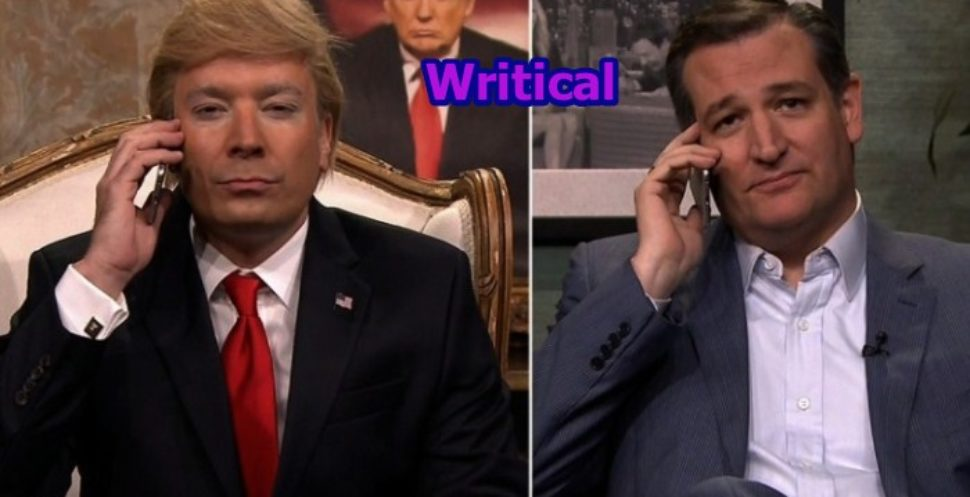Jimmy Fallon plays Donald Trump & calls Ted Cruz to give advice