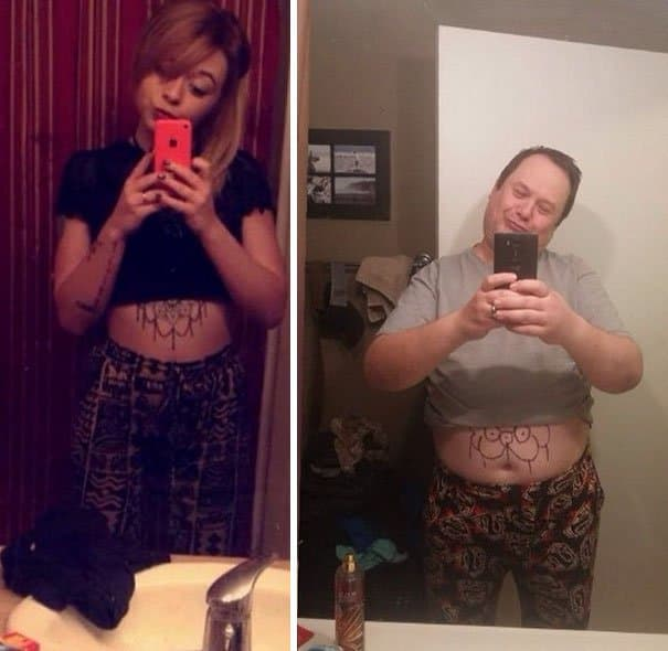 Father trolls daughter by recreating selfies. Hilarious