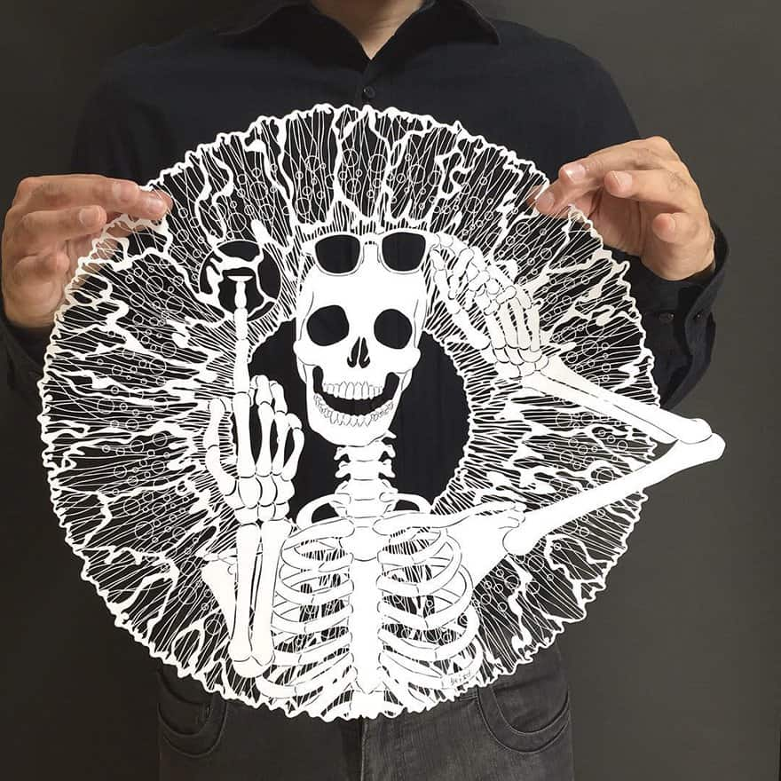 Incredible paper cutting art from Japanese Artist