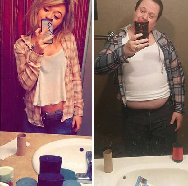 Father trolls daughter by recreating selfies. Hilarious Father trolls daughter by recreating selfies. Hilarious