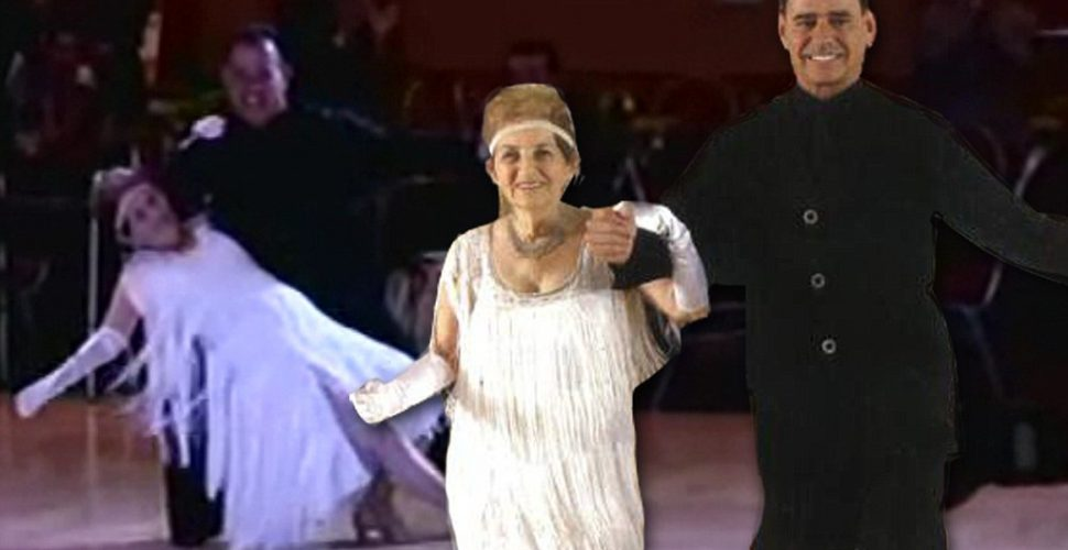 94 Year Old woman enthralls the crowd with her dancing. Stunning