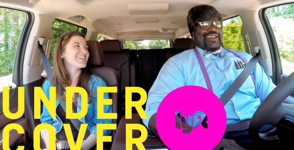 Lyft Passengers surprised Shaquille O'Neal. Hilarious