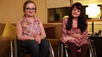 Mother and Daughter bond over Brittle Bone disease