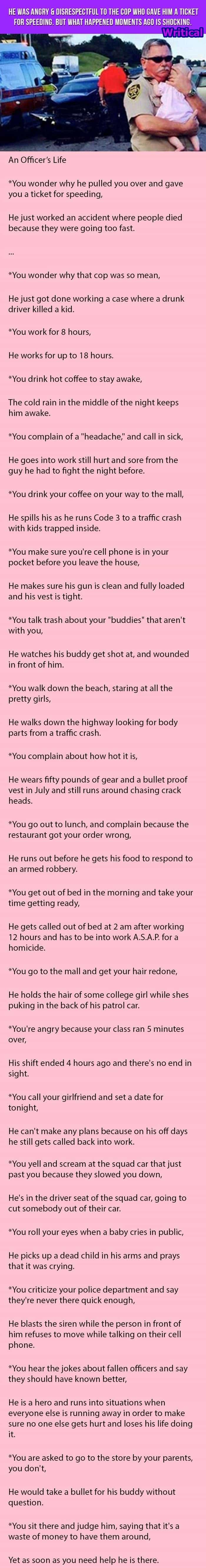 Understanding cops in a different way. A must read