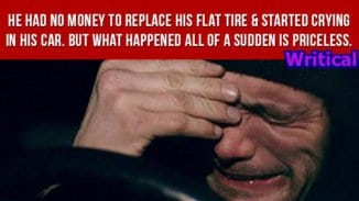 He had no money to replace his flat tire, but then this happened.