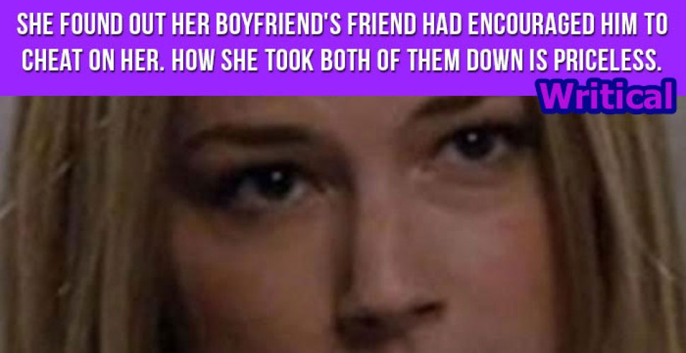 Cheated girlfriend was devastated by her boyfriend's action, but her comeback is gold