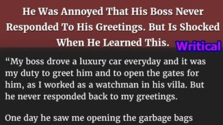 Rich boss ignored his gesture, but then he learned this