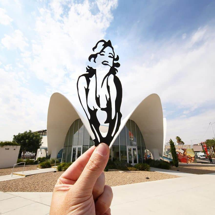 Paper cut art on important Landmarks that are just awesome.
