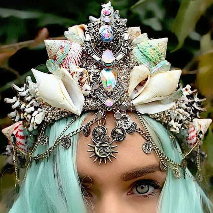 Beautiful Real Seashells' Mermaid crowns