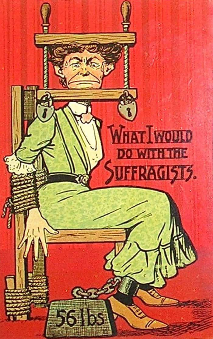 Vintage Propaganda Postcards that shows the dangers of Women's Right