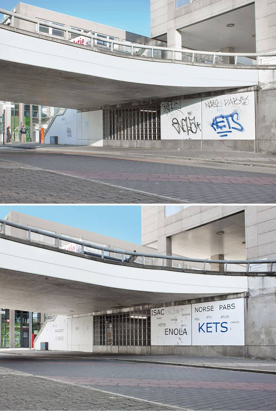 Ugly Graffiti made to look more sensible. Clever