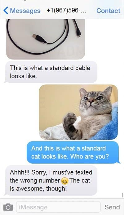 Funny Messages sent from wrong number