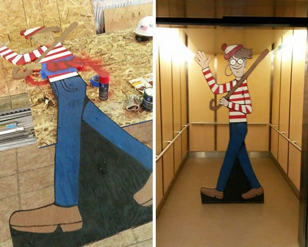 Construction worker hides Waldo every day for hospital kids to find