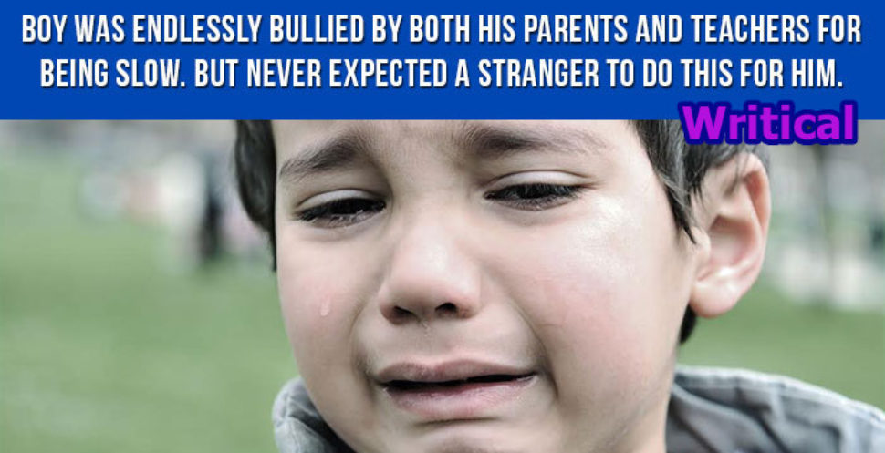 Bullied Boy never expected this from a Stranger