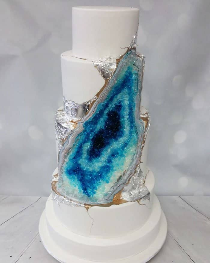 Geode Wedding Cake is going viral. Find out why