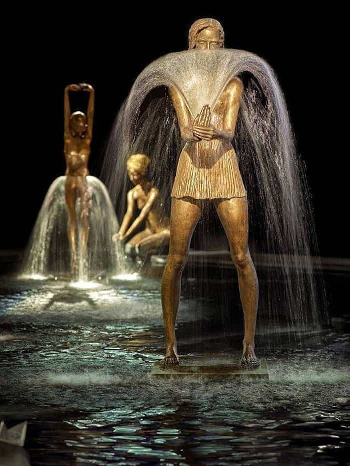 Bronze Fountain Sculptures by this Polish Sculptor is simply stunning