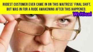 Rudest customers taught lesson by a waitress. Awesome