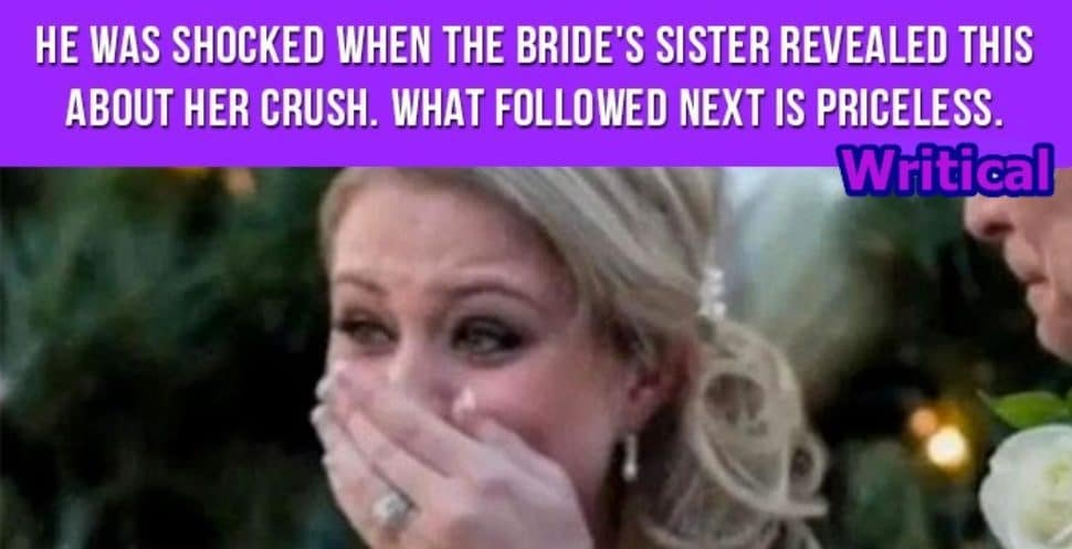 Old Lover was stunned when Bride's sister said this