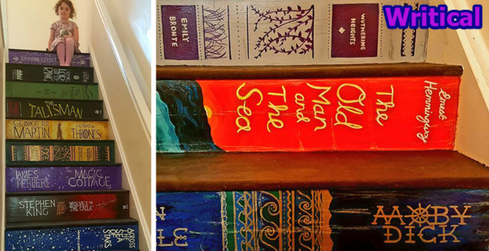 Innovative Book Covers staircase that went viral