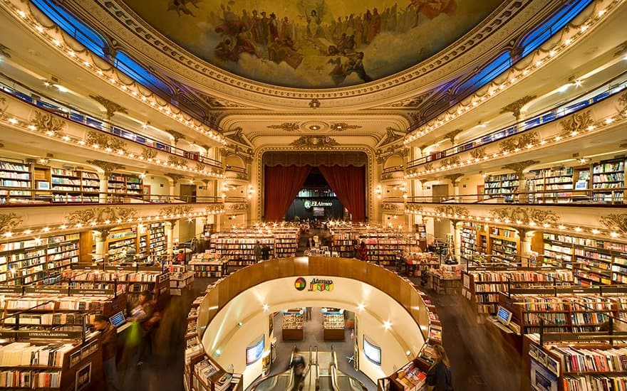 100 years old theater turned into a beautiful bookshop