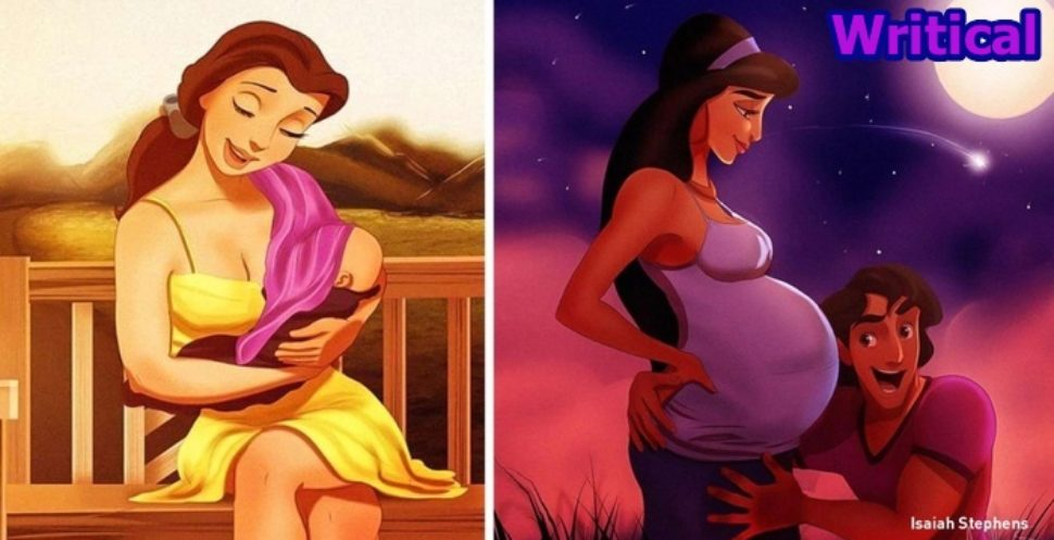 Disney princesses fancied motherly pictures