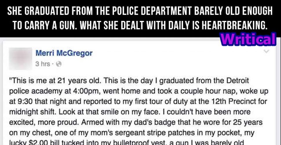 A young girl underwent distressed condition being a police