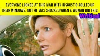 Distressed man gets shocked when a woman did this