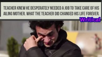 Teacher knew he needed the job so he did this and it changed his life forever