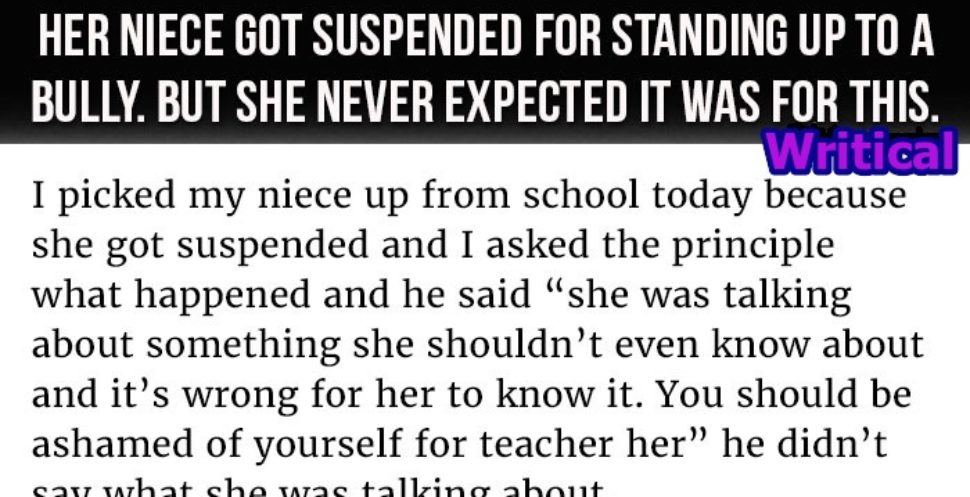 Schoolgirl suspended over her action on a bully, but then this happened Schoolgirl suspended over her action on a bully, but then this happened