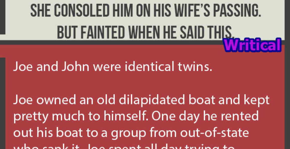 The perfect case of an identity mistake that includes boat and wife