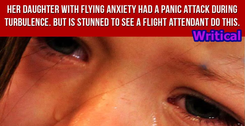 A flight companion amazed everyone by his deed