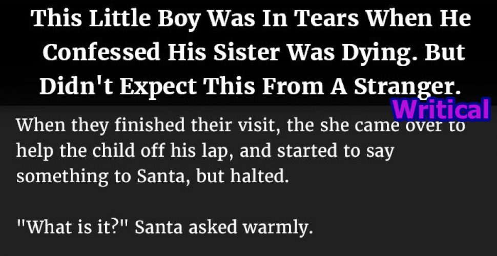 Santa uplifts spirit of this cancer stricken little girl, but he never expected this
