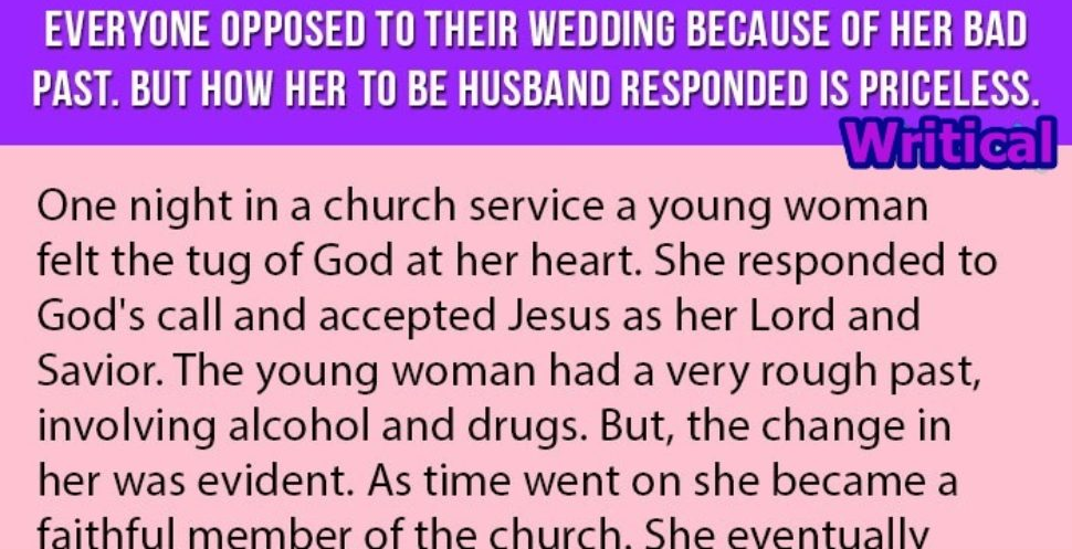 Her bad past caused problem in her marriage, but then this happened