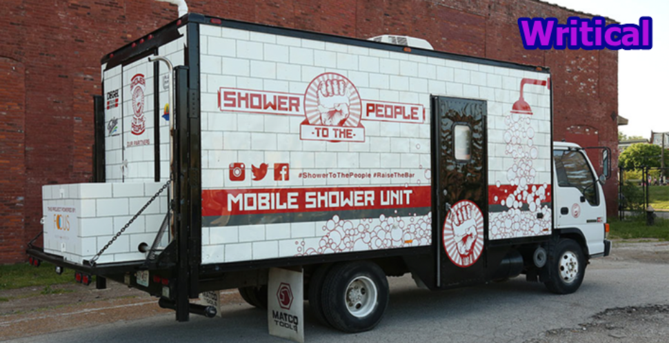 Jake Austin built a mobile shower truck to re-establish the dignity of homeless people